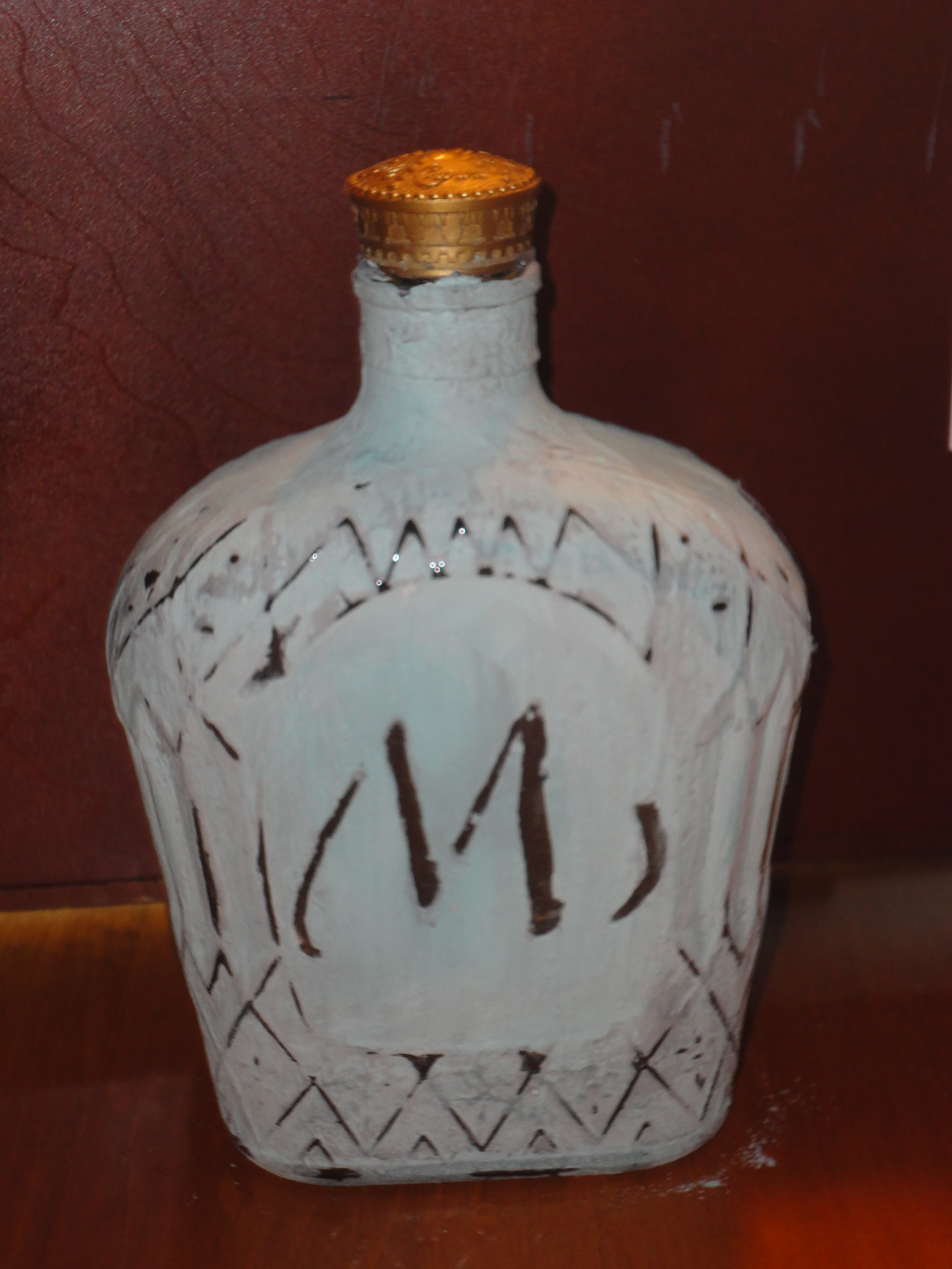 Crown Royal Bottle With Chalk Paint Emandelle65